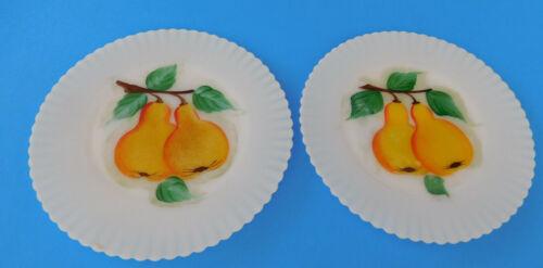 "2 Vintage Petalware MacBeth-Evans Glass 8"" Fruit  Monax Salad Plates"
