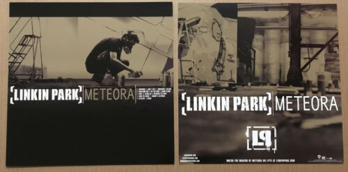 LINKIN PARK Rare 2003 Set of 2 DOUBLE SIDED PROMO POSTER FLAT of Meteora CD MINT