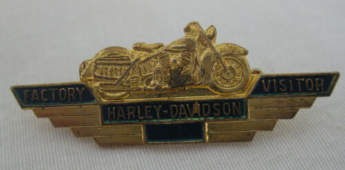 VINTAGE HARLEY DAVIDSON  FACTORY VISITOR PIN