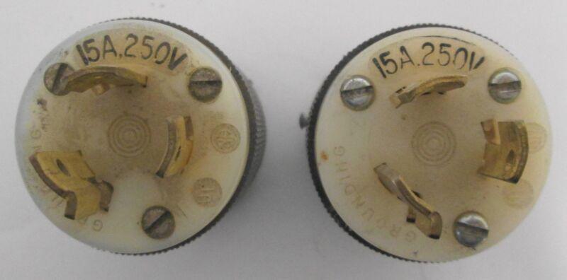 (2) Hubbell 15A 250V Plug