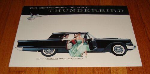 Original 1959 Ford Thunderbird Deluxe Sales Brochure Convertible Hardtop