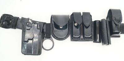Police Duty Belt Gouldgoodrich Leather 32 Left Holsterhandcuffaspmace F