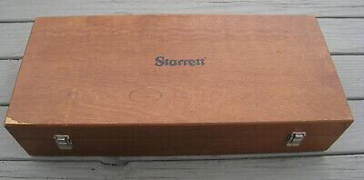 Vtg Starrett 254 Master Vernier Height Gage Wood Wooden Storage 26 Box Only