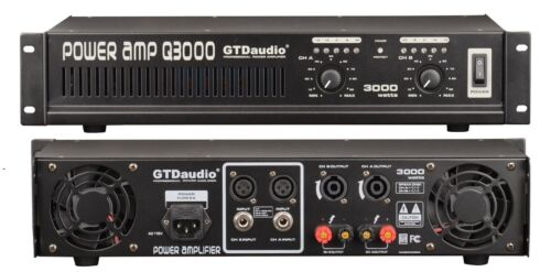 2 Channel 3000 Watts Professional Power Amplifier AMP Stereo Q3800