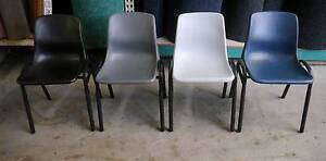 New Swan Poly Steel Stacking Lunch Room Construction Site Chairs Melbourne CBD Melbourne City Preview