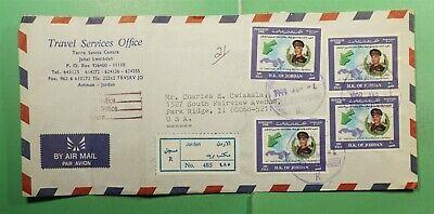 DR WHO 1999 JORDAN JABAL AL-LIWAIBDEH REGISTERED AIRMAIL TO USA  g14234