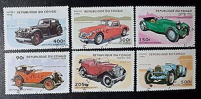 Congo 1996 Vintage Cars Cto Used Set of 6 (No1232)