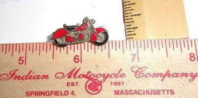 "vintage Sterling ""Indian Motorcycle"" pin collectible old biker vest memorabilia"