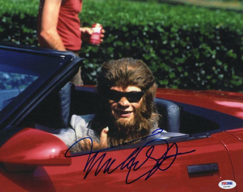 MICHAEL J FOX BACK TO THE FUTURE SIGNED 11X14 PHOTO TEEN WOLF AUTOGRAPH PSA D