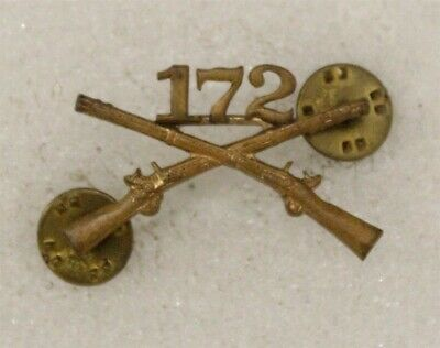 Army Officer's Collar Pin: 172nd Infantry Regiment - Meyer