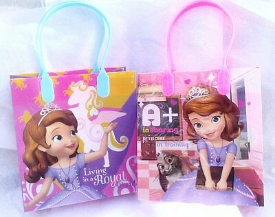 12PCS Disney Princess Sofia The First Goodie Party Favor Gift Birthday Loot Bags