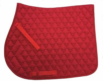English Horse Saddle Pad All Purpose Quilted Cotton Floral Pattern Red All Purpose English Saddle Pad