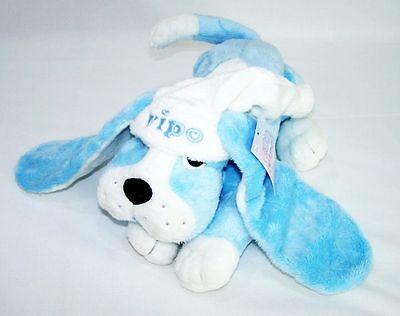 Vipo Baby Hund Aufziehspieluhr Blau  Kuscheltier Einschlafhilfe Spieluhr Neu OVP
