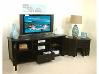 Brand New Widescreen TV Cabinet - Dark Ash Wood