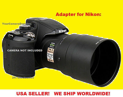 ADAPTER to CAMERA NIKON COOPLIX L810 L820 62mm (For WIDE & TELEPHOTO LENS)