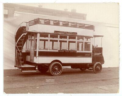 1910s NEW YORK CITY BUS rare builder's photo JG BRILL Central Park