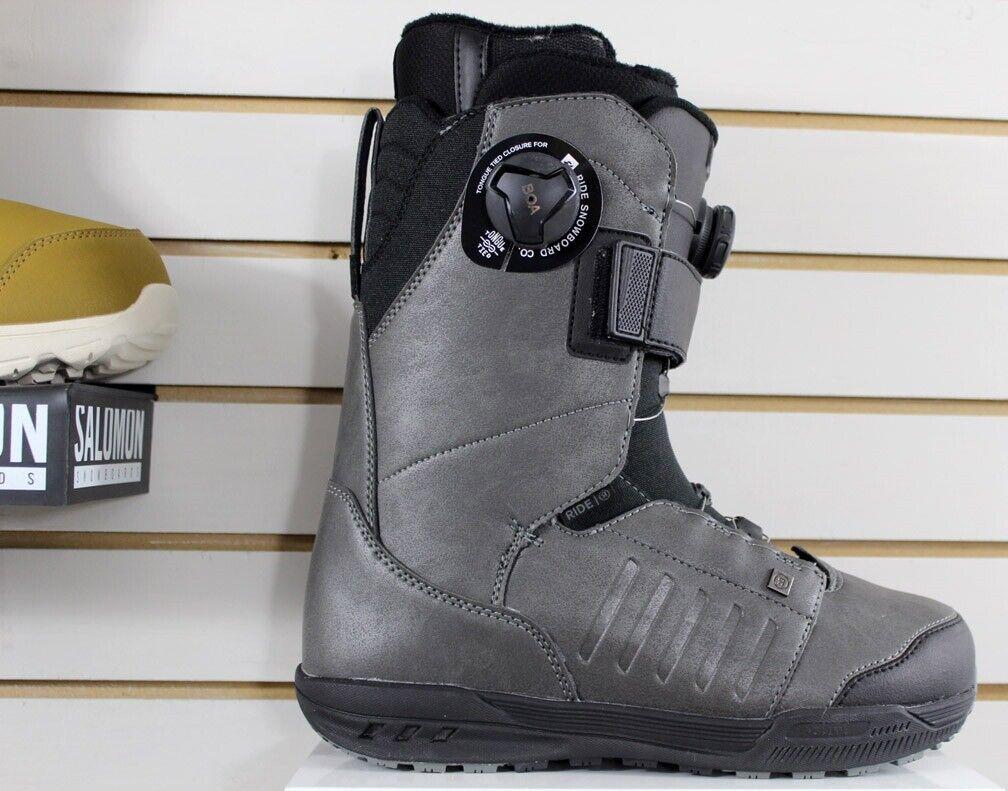 Ride Deadbolt Boa Snowboard Boots Men's Size 10 Grey New 202