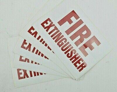 5 Pack Fire Extinguisher Decal Sticker Vinyl Window Wall Custom Design Sign