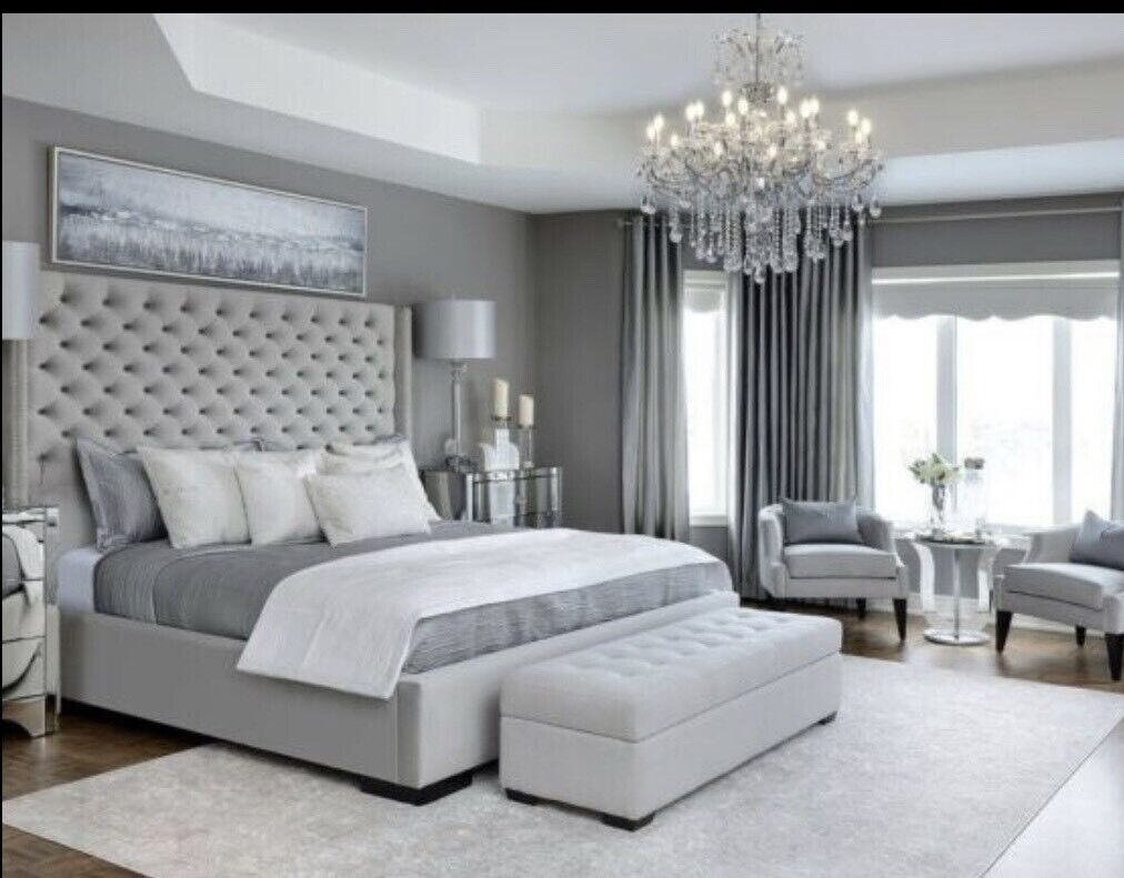 Bravo Plush Velvet Bed Frame Double King Super King Size Size With Without Orthpadic Mattress In Southside Glasgow Gumtree