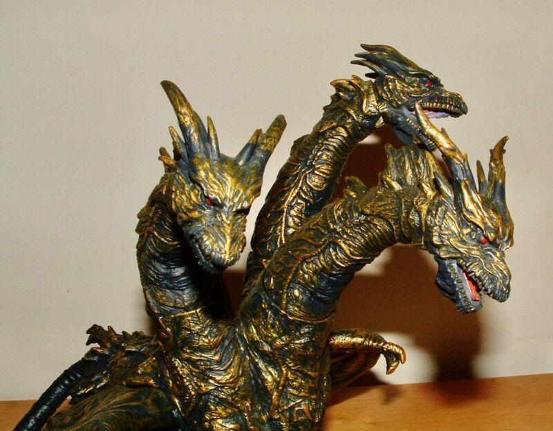 "2004 BANDAI 9"" Tall KAISER GHIDORAH Vinyl Figure Godzilla Final Wars"