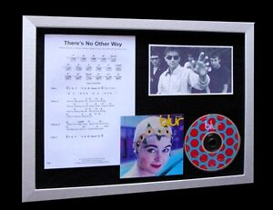 BLUR-Theres-No-Other-Way-LTD-CD-MUSIC-FRAMED-DISPLAY