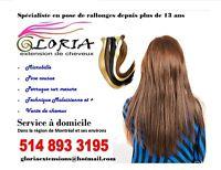 Spécialiste en rallonges :250$tout inclus/vente de cheveux