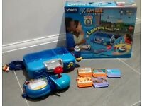 VTech VSmile TV Learning Console with Thomas the Tank Engine Game. VGC. Blue.