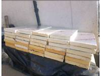 34 x 75mm thick Insulation boards 450mm x 1200mm
