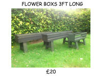 GARDEN FURNITURE TABLE WIND MILL WHEEL BARROW WISHING WELL FLOWER BOXES