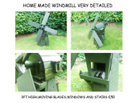 GARDEN WINDMILL WISHINGWELL BENCH WHEELBARROW