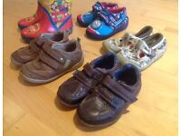 Clarks leather First Shoes 6F Clarks Doodles, wellies, Thomas slippers size 6