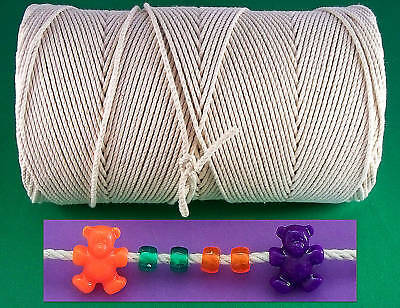 1400 ft. 3 Strand Twisted  Cotton Cord/Rope 1/8