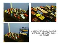 1970'S 1980'S MATCHBOX CARS WITH CARRY CASE