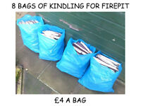 KINDLING FOR LOG BURNERS OR FIRE PITS