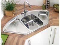 Astracast lausanne 1.5b corner sink-ld15xxhomesk1 - NEW