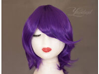 Short purple wig, greate cosplay wig
