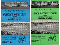 3 x Salford Rugby League home special programmes 1960s