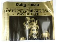 CORONATION OF QE II DAILY MAIL & MIRROR REPRINTS + BOOKMARKER