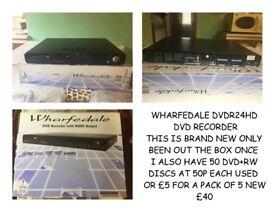 DVD RECORDER BRAND NEW WITH OPTIONAL DVD +RW DISCS