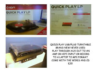 RECORD PLAYER TO MP3 BOXED AS NEW