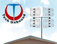 Digital HD TV Antenna Installations. Up to 25+ FREE HD channels