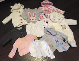 Baby Girl Clothes 0-9months (Jackets/Cardigans/Coat)