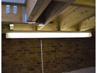 5 x Single Flurescent Light Fittings Size: 5ft