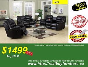 """Store Wide Super Sale"" Brand New 3pc 5 Recliners Sofa,Love-Seat & Chair Set $1499 (Sale Ends:Oct/23/2017)"