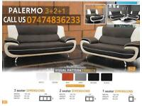 Palermo leather corner and 3+2 A