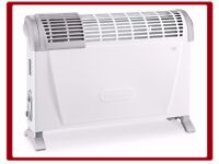 Brand New DeLonghi 2000W Convector Heater with Adjustable Thermostat Freestanding or Wall-Mountable