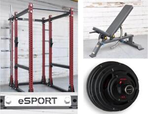 SAVE $ 763 LONG WEEKEND SUPER  SPECIAL INCREDIBLE SUPER RACKS SALE IRON BULL 550 SET, WITH SUPER BENCH AND 400 LB OLY SE
