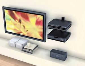 Sonax CS-2180 Black Component Wall Shelf