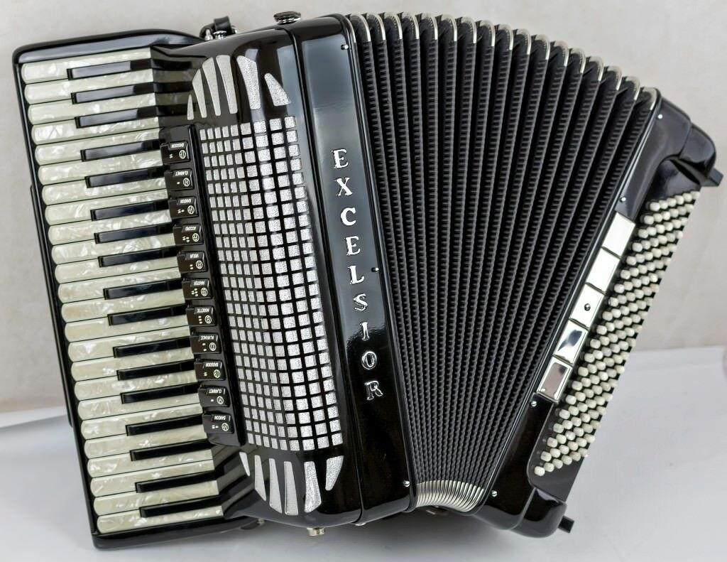 Excelsior 220 Accordion - Rare Compact Model - 4 Voice Musette with Magnetic MIDI