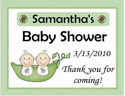 15  TWINS PEAS IN A POD BABY SHOWER FAVORS MAGNETS
